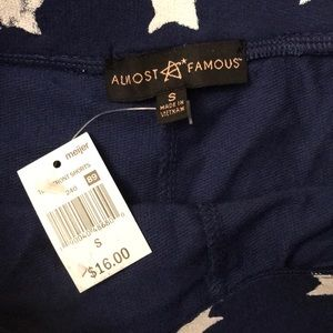 Almost Famous Shorts - star navy shorts